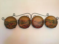 Decorative Plates and Metal Holder
