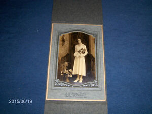VINTAGE WEDDING COLOR PHOTO IN PERIOD FRAME-1920S-MILWAUKEE