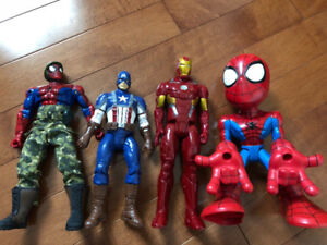 4 LARGE MARVEL SUPERHEROES, APPROX. 12 INCHES IN HEIGHT