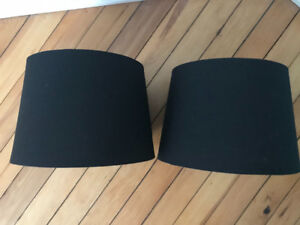 Two Black Lamp Shades