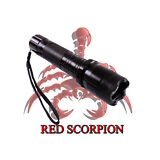 Red Scorpion Metal Stun Gun 1101 - 260 Million Volts Rechargeable LED Flashlight