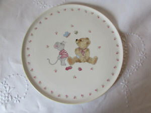 Large MIKASA Teddy Cake Plate