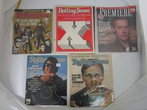 OLD ROLLING STONE AND ROCK MAGAZINES