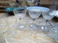 Down Sizing 6 Crystal Wine Glasses