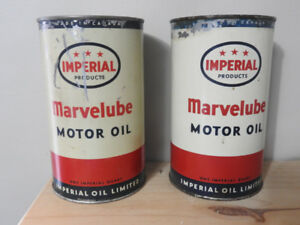 2 - 3 Star Imperial Marvelube Oil Cans