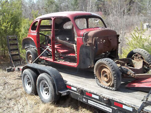 1940 plymouth suicide doors barn find