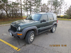2003 Jeep Liberty Sport 4X4 V6 - PARTS ONLY