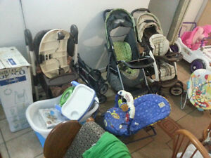 Kids items Stroller, Kitchen, chair, Busy Ball table,Climb&Slide