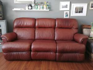 Sofa vrai cuir naturel aucune déchirure