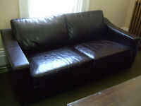 dark expresso brown leather couch (purchased at Attica)