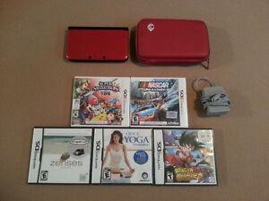 3DS XL Rouge + 5jeux (Super Smash bros 3ds) & Accessoire