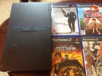 PlayStation 2 ps2 with 7 games and one handset