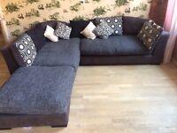 AMAZING SUPER COMFY large corner sofa! Bargain price! With Pouf!