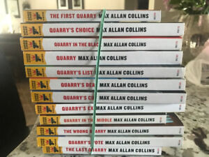 Complete set (12) of Max Collins Quarry books. Like new.