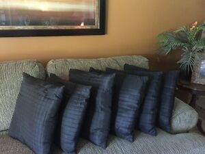 6 Black Accent Pillows 19 x 19 Kawartha Lakes Peterborough Area image 1