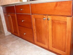 Kitchen Cupoards White Boxes With Doors & Maple Cherry .........