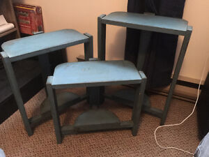 3 Handmade Antique Side Tables