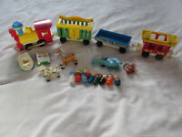 FISHER PRICE LITTLE PEOPLE VIEUX JOUET LOT TRAIN