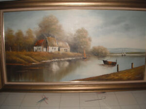 Home by the Water Canvas Painting