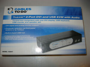 Cables To Go DVI/VGA/USB/Audio KVM switch with cables