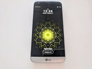 Factory Unlocked LG G5 32GB Silver In Excellent Condition