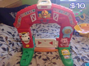Assorted Baby Toys, Exersaucers, etc.