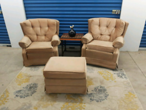 Swivel chairs & Ottoman