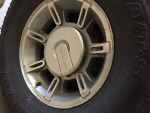 Hummer H2 Stock Rims With 315 /70/R17 Tires