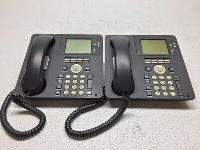 Lot Of 2 Avaya 9650 Digital Business Ip Voip Telephone W Handset Stand Cord