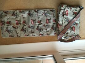 Large Cath Kidston cowboy print bag plus changing mat