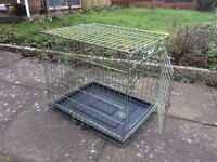 Collapsible small dog cage