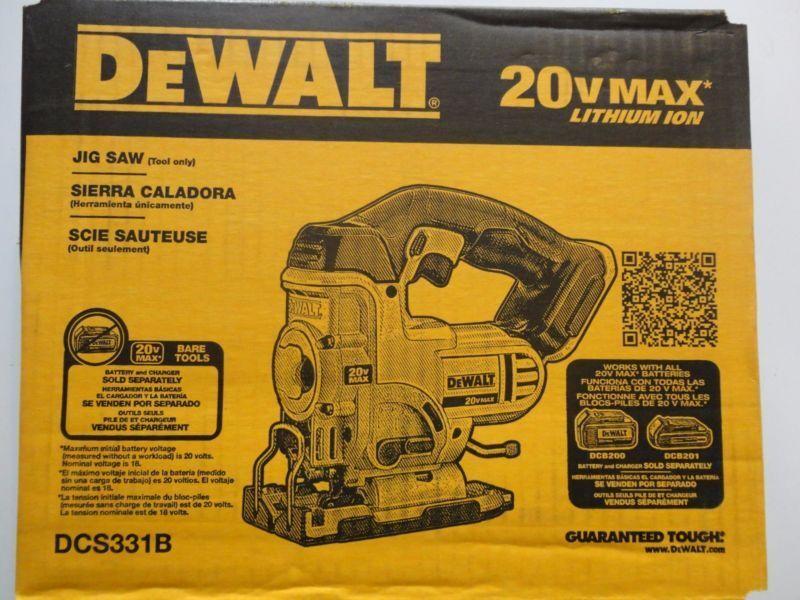 DeWALT DCS331B 20 Volt Max Lithium-Ion Cordless Jig Saw Tool
