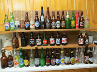 BEER BOTTLES WITH PAINTED LABELS