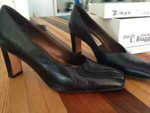 2 inch heel, Black, Great condition L. Biaggiotti-Italian Heels