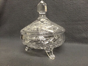Collectible Antique Pinwheel Crystal Covered Candy Dish London Ontario image 4