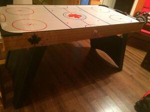 Table de air hockey sur pied