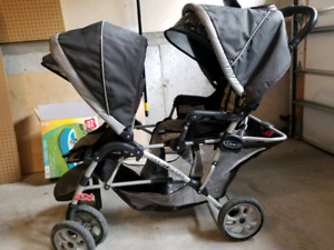 Used Graco collapsible double stroller