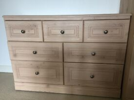 Chest of drawers and Desk set