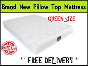 FREE DELIVERY Brand NEW Queen Size Bed Pillow Top Mattress New Farm Brisbane North East Preview