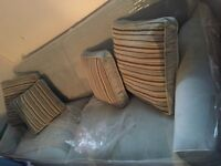 Pale blue / grey sectional and matching single for $1000