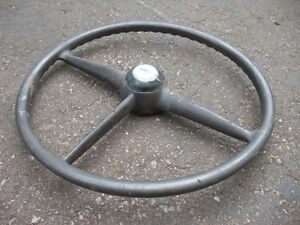 Vintage 1949 Pontiac Steering Wheel with Chevrolet Horn Button