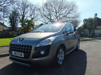 Stunning 2011 Low Mileage Peugeot 3008 2.0HDi FAP Exclusive Ideal Family Car
