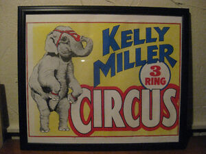Circus Poster, Vintage Antique Circus Poster