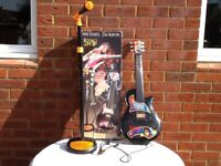 Michael Jackson History Tour Guitar. MAGNIFICENT. VERY RARE. COMPLETE WITH MICROPHONE, STAND AND BOX