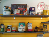 Oil, Tobacco Cans & Glass Soda Bottles