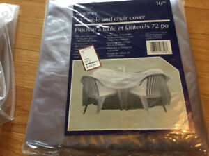 Patio set cover and lounge chair cover