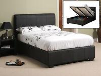 Double, storage, ottoman, hydraulic lift up, leather bed, single, king size, Memory Foam Mattress,