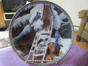 Very pretty Collector Plate - Bluejays  Winter Morning Melody