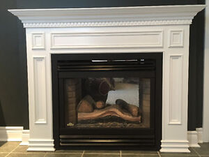NAPOLEON 2 SIDED DIRECT VENT GAS FIREPLACE-GD40-C/W MANTELS