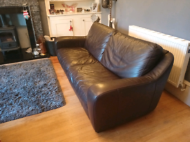 REDUCED Lovely John Lewis Leather Sofa